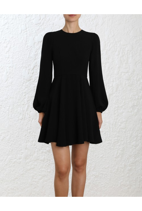 BLOUSON SLEEVE MINI DRESS