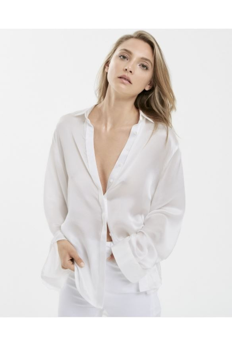 BELLA SILK SHIRT WHITE