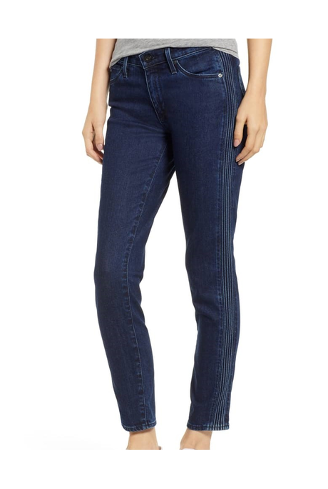 PRIMA ANKLE PINTUCK JEAN (INDIGO PURSUIT)
