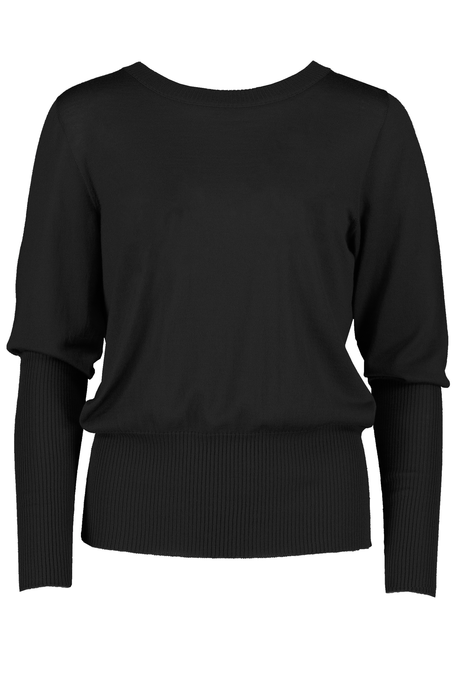LONG RIB SWEATER (BLACK)