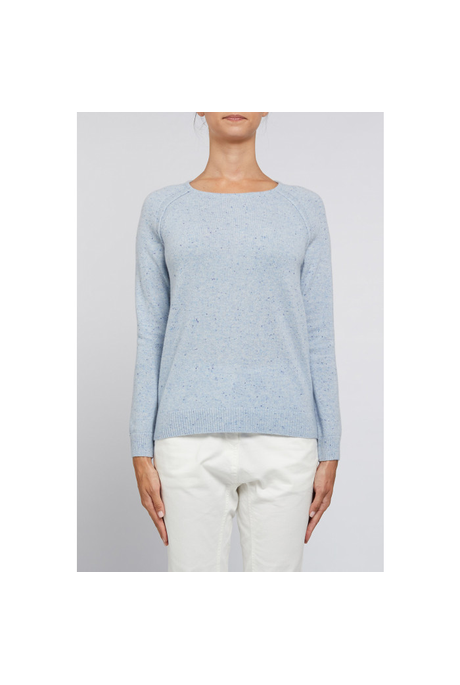 CASHMERE CREW JUMPER (CHAMBRAY)