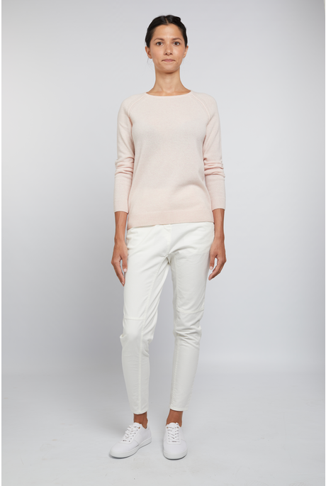 CASHMERE CREW JUMPER (POWDER PINK)