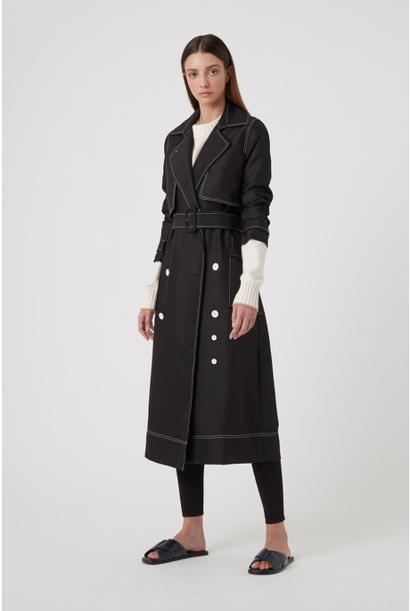 FAITH TOPSTITCH TRENCH