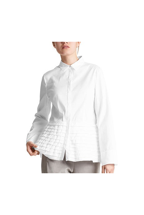 BLOUSE WITH TIERED FLOUNCES