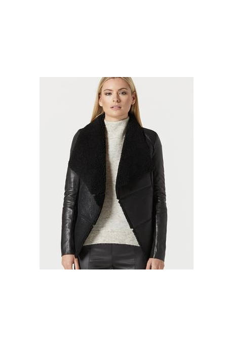 HARPER SHEARLING JACKET (BLACK)