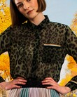 WILD THING BLOUSE (GREEN LEOPARD)