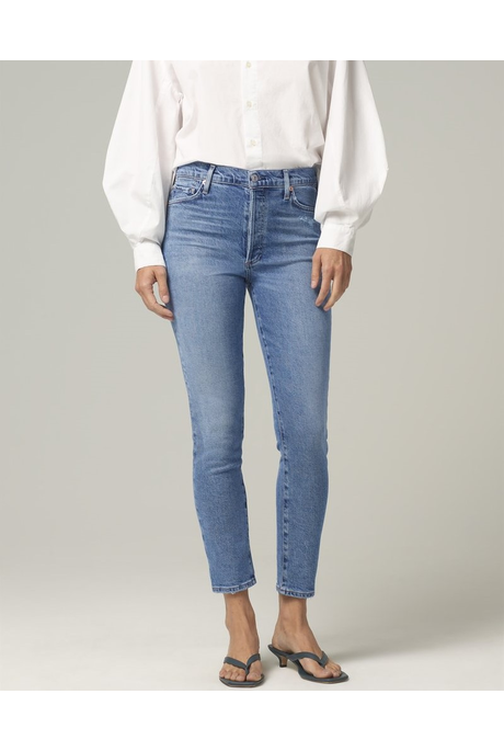 OLIVIA HIGH RISE SLIM FIT JEANS (CHIT CHAT)
