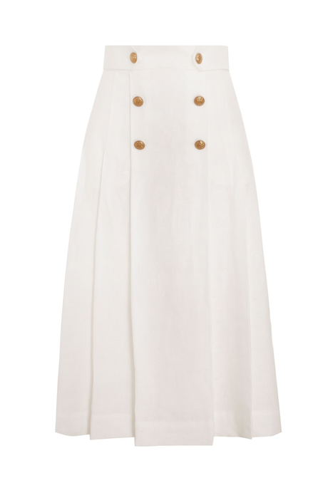 THE LOVESTRUCK BUTTONED SKIRT (NATURAL)