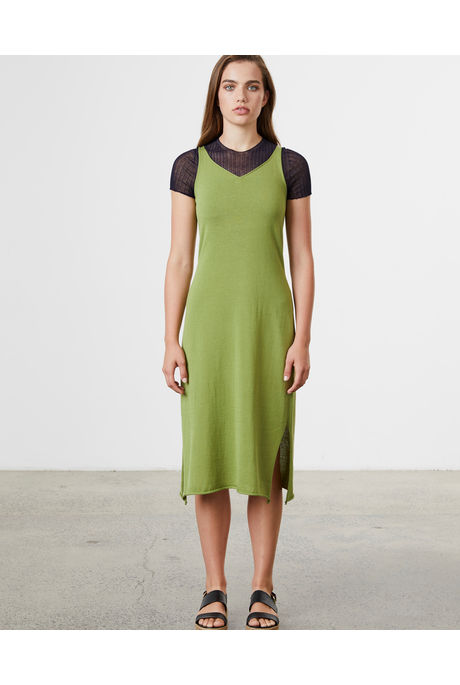 COTTON MIDI (LEAF)