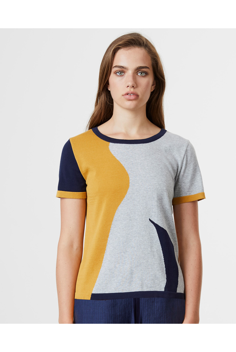ABSTRACT TEE (SUNNY/NAVY/CINDER)