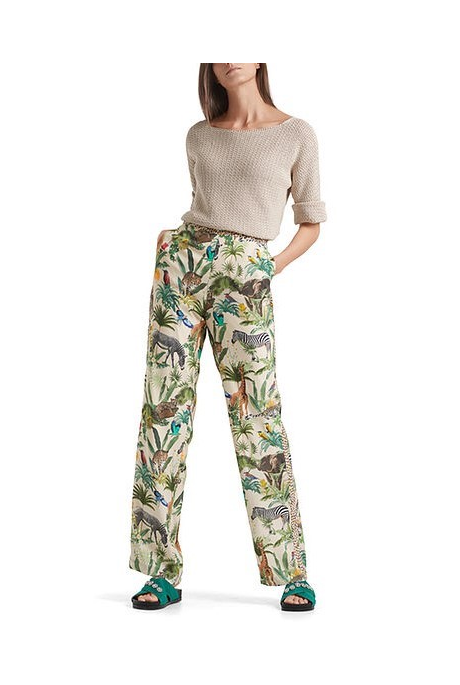 SAFARI PRINT PANTS (BRIGHT GREEN)