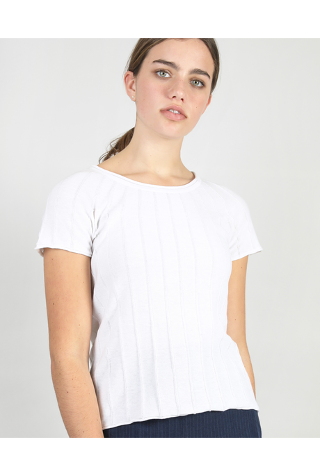 DIAGONAL TEE (WHITE)