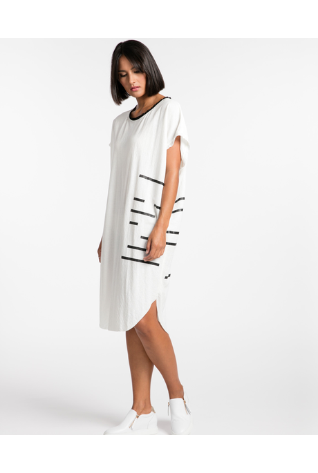 CROSSING THE LINE DRESS (IVORY)