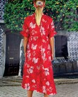 PLAY BY TIER DRESS (RED PINK FLORAL)