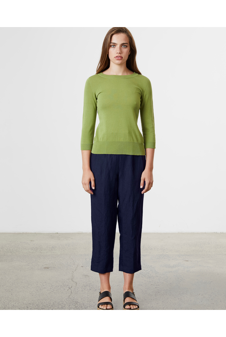 LINEN RELAXED PANT (NAVY)