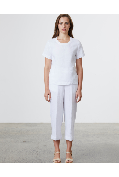 LINEN RELAXED PANT (WHITE)