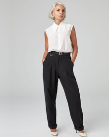 SILK-LINEN TROUSER (BLACK)-shop-by-category-Lynn Woods