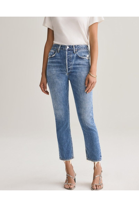 RILEY HIGH RISE STRAIGHT CROP JEAN (FREQUENCY)
