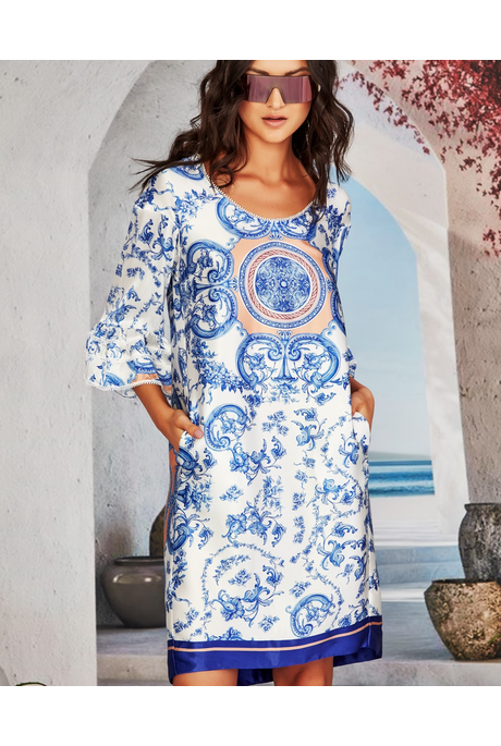 PRE ORDER | SHIFTING OFF TO DREAM TUNIC (PORCELAIN BLUE)