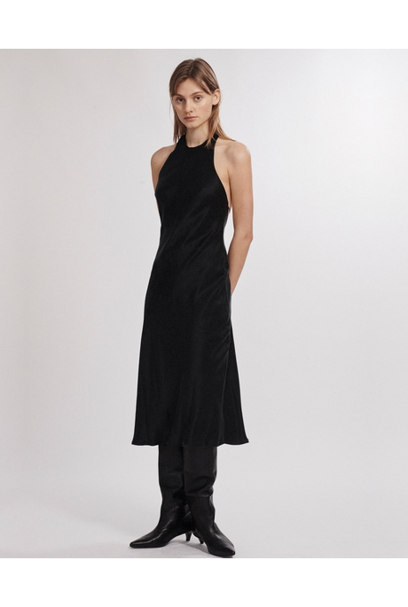 HALTER DRESS (BLACK)