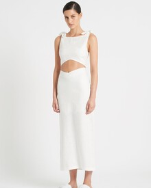 AMBROISE MIDI SKIRT (iVORY)-shop-by-category-Lynn Woods