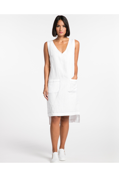 LIVE IN THE NOW DRESS (WHITE)