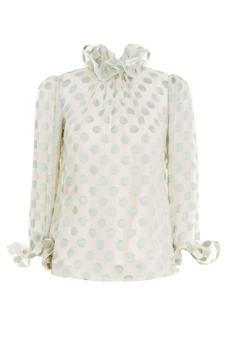 THE LOVESTRUCK FLUTED BLOUSE (MINT)