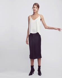 SILK BIAS CUT SKIRT (BLACK)-shop-all-Lynn Woods