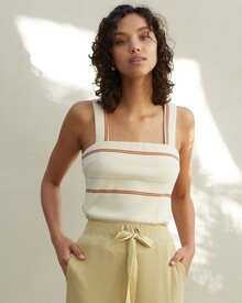 THE AVA RIBBED TOP (LA MAISON STRIPE)-shop-by-category-Lynn Woods