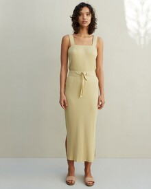 THE LARA RIBBED SKIRT (PALE OLIVE)-shop-by-category-Lynn Woods