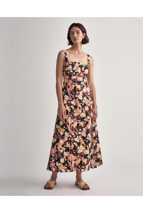 DELFINO SPLIT SKIRT DRESS (DELFINO PRINT)
