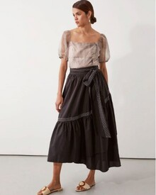PARKER WRAP SKIRT (BLACK)-shop-by-category-Lynn Woods