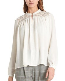 BLOUSE WITH LACE INSERTS (OFF WHITE)-shop-by-category-Lynn Woods