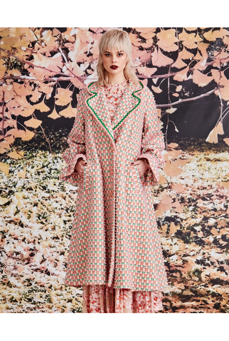 THE SWING OF THINGS COAT (PINK TWEED)