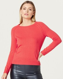 PURE CASHMERE CREW JUMPER (TANGELO)-shop-by-category-Lynn Woods