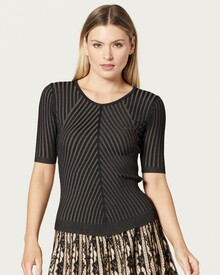 GIA RIBBED TOP (BLACK)-shop-by-category-Lynn Woods
