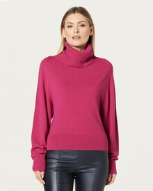 PURE CASHMERE COWL JUMPER (BERRY)-shop-by-category-Lynn Woods