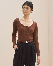 THE INHA TOP (CHOCOLATE)-shop-by-category-Lynn Woods