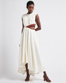 REFLECTION CUT OUT DRESS (IVORY/MAHOGANY)-shop-by-category-Lynn Woods