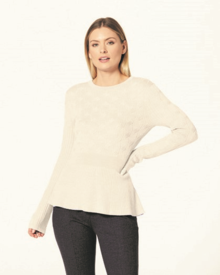 BEATRICE PEPLUM JUMPER (ALMOND)-shop-by-category-Lynn Woods