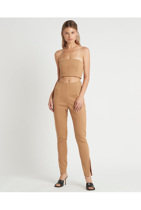 ANDRE ZIP PANT (CAMEL)